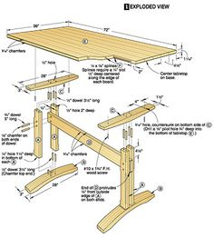 Ana White Build a Pedestal Trestle Dining Table Free and Easy DIY Project and Furniture Plans Kitchen tables and dining Trestle Table Plans, Farmhouse Table Plans, Trestle Dining Tables, Wood Tables, White Farmhouse, Round Dining, Farmhouse Ideas, Woodworking Table Plans, Small Woodworking Projects