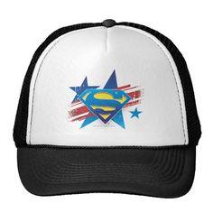 Superman Stylized | Stars and Stripes Logo. Producto disponible en tienda Zazzle. Accesorios, moda. Product available in Zazzle store. Fashion Accessories. Regalos, Gifts. #gorra #hat #heroe #hero #american
