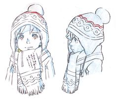 So cute i think I might color it and crochet a hat and scarf in those same colors