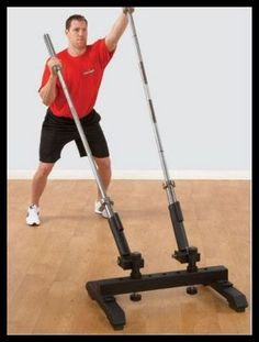 Meet the E.T II: an exercise tool designed to take your torso training to a new level. Its double barrel design lets you use 2 bars at once to training your body. It allows one or two people to work together. This piece supports multi-direction swivel f Home Made Gym, Diy Home Gym, Gym Room At Home, Homemade Gym Equipment, Diy Gym Equipment, No Equipment Workout, Training Equipment, Gym Gear, Workout Gear