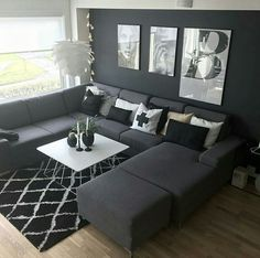 Idea to stitch for a contemporary living room wohnzimmer modernes Living Room Grey, Small Living Rooms, Home Living Room, Apartment Living, Interior Design Living Room, Living Room Designs, Living Room Decor, Modern Living, Tiny Living