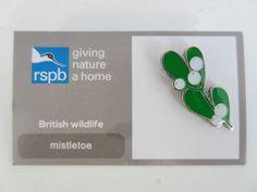 Charity Pin Badge RSPB Giving Nature A Home Mistletoe Enamel British Wildlife