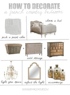 How to: Decorate a French Country Bedroom