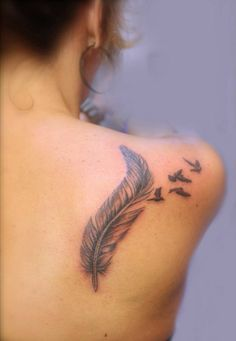 feather, birds, shoulder, back, tattoo, veer, vogels, schouder, rug, https://www.facebook.com/profile.php?id=100008986089547