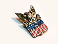 Patriotic Vintage 1940s Sterling Silver WWII Son In by PinkyAGoGo, $34.99