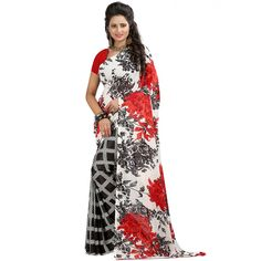 Classy Multicolor Color Premium Gerogette Printed Saree at just Rs.499/- on www.vendorvilla.com. Cash on Delivery, Easy Returns, Lowest Price.
