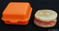 Bubble Burger Gum - 1984    This is a Fleer Bubble Burger gum box from 1984, along with the original gum burger in all its glory.  *from flicker ~waffle whiffer