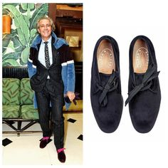 What's better than velvet slippers? Velvet boots with silk grosgrain laces. Meet our new velvet bootie: CHUCKY bespoke colors designed by our favorite slipper aficionado @carlossouza1311 #stubbsandwootton #valentino #bespoke