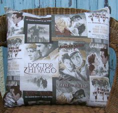18 inch pillow cover  movie pillow  film cushion  by chezlele, $25.00