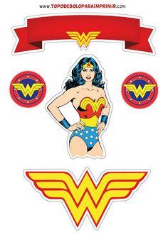 Wonder Woman Birthday, Wonder Woman Party, Anniversaire Wonder Woman, Superman Drawing, Wander Woman, Superhero Birthday Party, Cake Toppers, Avengers, Marvel