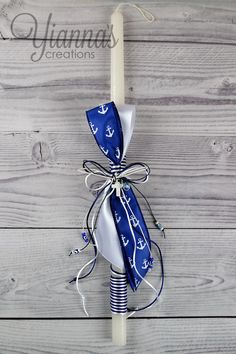 Nautical Theme Easter Lambatha #LE-29 • $15 at Yianna's Creations Pta, Nautical Theme, Happy Easter, Christening, Holiday Ideas, Celebrations, Greek, Crafting, Candles