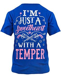 Women's Clothing, Tops & Tees, Knits & Tees, Cute n' Country Shirt: I'm Just A Sweetheart With A Temper - Royal Blue - Source by clothes shirts Country Girl Shirts, Country Style Outfits, Country Girl Style, Cute N Country, Shirts For Girls, Country Life, Southern Outfits, Country Wear, Country Dance