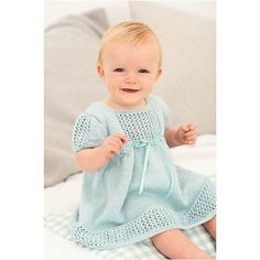 Ravelry: Baby Knitted Matinee Dress pattern by Woman's Weekly