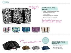 Deluxe Utility Bag from Thirty-One Gifts 2015 Spring-Summer Collection (US) Various colors/prints available. https://www.mythirtyone.com/heavenlymama/