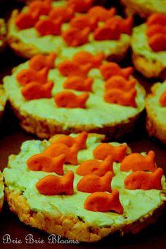 """""""Fish in the Pond"""" Preschool Snacks   Brie Brie Blooms"""