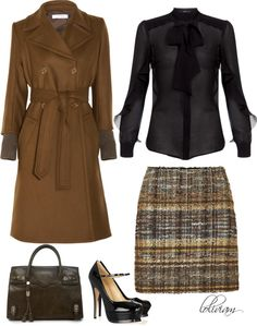 """Black and Brown"" by loliviam ❤ liked on Polyvore"
