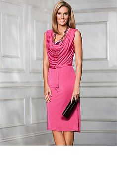 Dresses - Grace Hill Drape Front Dress - EziBuy New Zealand