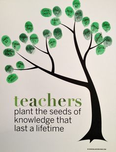 Classroom Fingerprint Tree- perfect gift for teacher appreciation or the end of the year. Free printable from http://www.balancinghome.com