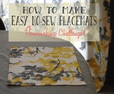 Crafty Allie: Easy No Sew Placemats
