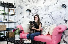 The Brunette One founder and #girlboss, Samantha McClelland, teaches us how to turn a boring beige space into the office of our dreams!