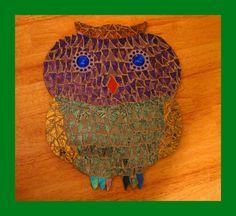 Audrey's Awesome Owl Mosaic by zzbob on Etsy, $56.00