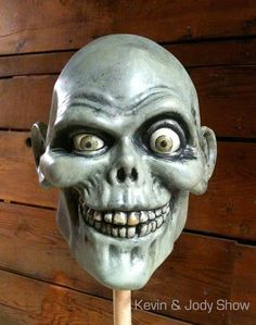 """Kevin Kidney & Jody Daily's head model for their life-sized """"Hatbox Ghost"""""""