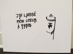 I left my heart in Paris painting