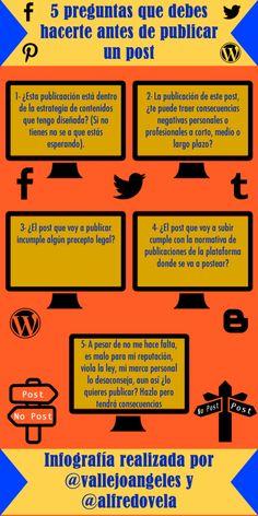 5 preguntas que debes hacerte antes de publicar un post #infografia