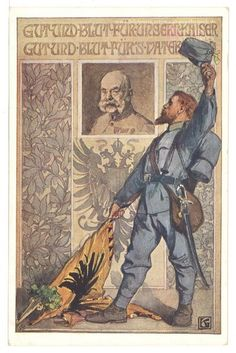 WW1, German Postcard; 'Good and blood to our Kaiser, good and blood to the fatherland.' -Tweets from WW1 (@RealTimeWW1) | Twitter