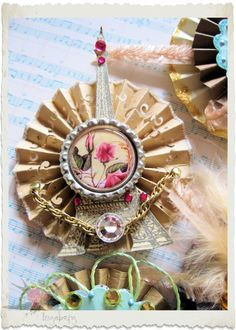 Handmade paper rosette | by Holy Mountain Flower Fairy
