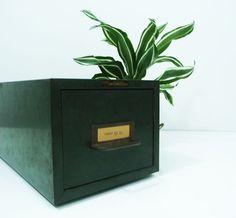 Steelmaster card cabinet - Library card catalog - Metal storage case - Vintage office - Industrial decor