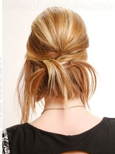 Edgy Loose Updo