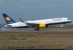 Icelandair (IS) Boeing 757-256(WL) TF-FIA aircraft, named ''HEDUFREID=name of a volcano'' landing at Italy Verona Villafranca Valerio Catullo Airport. 06/02/2016.