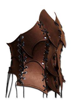 Larp woman Armor - Shaman, brown - woman Armor - Leather Armour - Armour