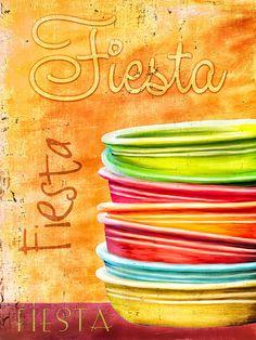 I Love Fiestaware Photograph - I Love Fiestaware Fine Art Print metal print 22x30