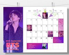 2021 BTS Calendar Poster 1 year / Bangtan sonyeondan | Etsy Bts Calendar, Calendar Stickers, Print Calendar, 2021 Calendar, Marketing And Advertising, Jimin, Anniversary, 1 Year, Digital