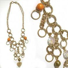 Collier d'anneaux et perles colorées, joli et pas cher chez Diabolo Bijoux