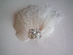 Bridal Fascinator  Ivory  Bridal Fascinator  by CorrineONeill, $64.95