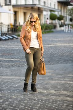 Back At It | Camel Leather + @Vincesays Skinny Jeans | Luci's Morsels :: LA Denim Blog