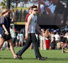 Brooklyn Beckham. See what all the celebs are wearing at Coachella 2015.