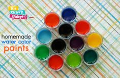 Homemade Water Color Paints [It's Gravy Baby] // These are so much brighter than the ones you buy!