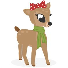 Daily Freebie 11-4-14: Miss Kate Cuttables--Reindeer SVG cutting files for scrapbooking cute cut files christmas svg cut files free svgs