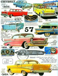 Vintage Trucks What a Deal Ford Classic Cars, Classic Chevy Trucks, 1957 Chevrolet, Chevrolet Trucks, Chevrolet Impala, Vintage Advertisements, Vintage Ads, Bel Air, Motos Vintage