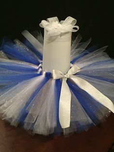 Royal/White/Silver Glitter Tutu by SimplyTooCuteCouture on Etsy