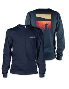 We now have more sizes available for the Fly Fishing Silhouette from Rep Your Water. $37