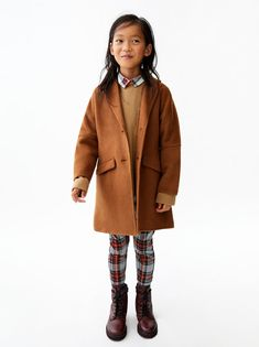 Image 1 of MASCULINE COAT from Zara You are in the right place about zara kids shorts Here we offer Kids Winter Fashion, Kids Fashion, Autumn Fashion, Fashion Ideas, Toddler Girl Outfits, Kids Outfits, Kids Studio, Preteen Fashion, Kids Coats
