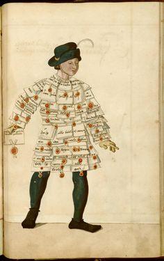 Ablasskrämer from a Nuremberg Schembart-Book, saec. XVI
