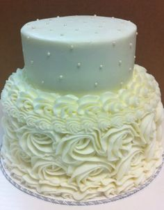 Just a simple small wedding cake.