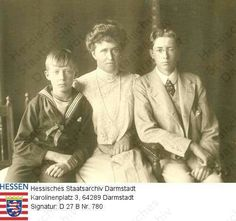 Princess Irene of Hesse and her sons Prince Waldemar and Prince Sigismund.