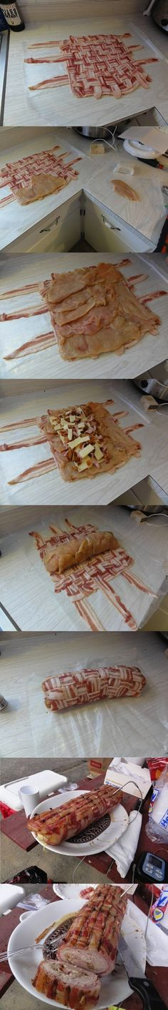 Bacon Wrapped Chicken Wonder Roll